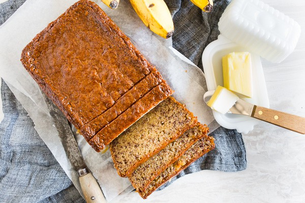 Coconut Rum Lime Glazed Banana Bread | Nutmeg Nanny