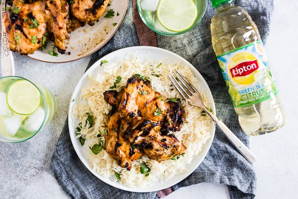 These chili mango lime grilled chicken thighs are guaranteed to be your new summer grilling favorite! Delicious chicken thighs marinated in mangoes, lime juice, jalapenos peppers, cilantro and chili powder. This chicken packs a punch in the flavor department!