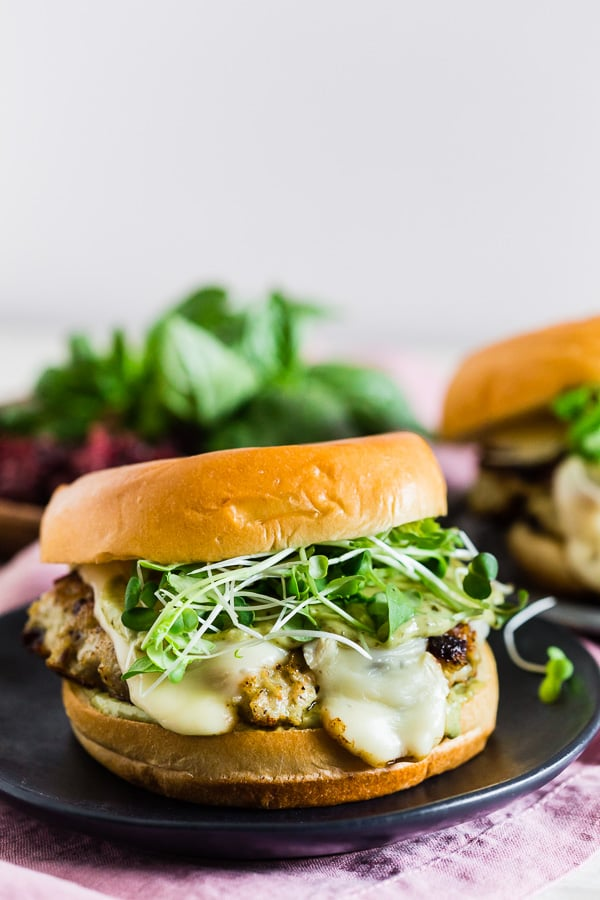 These cranberry pesto chicken burgers are packed full of flavor and the perfect balance of sweet and savory. You'll love how easy these burgers are to make and they pair perfectly with all your summer bbq favorite side dishes. Plus they're ready in just 30 minutes!