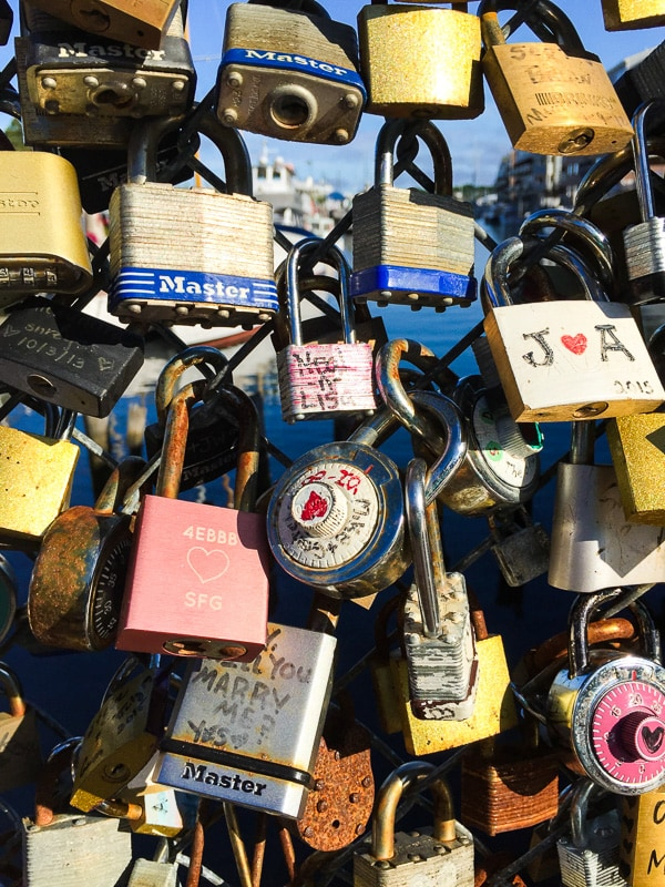 Summer Maine Travel Guide - Portland Love Locks