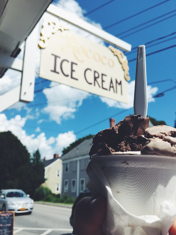 Summer Maine Travel Guide - Kennebunkport Rococo Ice Cream