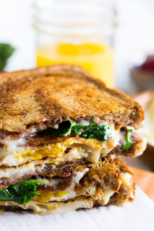 This bacon egg and cheese cranberry sauce breakfast sandwich is the perfect addition to your morning routine. There is so much flavor packed into this sandwich you'll be wondering why you haven't been making it your whole life.