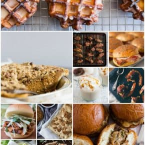 This roundup gives you 11 delicious ways to use apple butter! Apple butter is not just for slathering on toast. You can use it for both savory and sweet recipes.