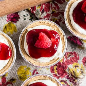 These no bakeraspberry lemon mini cheesecakes are going to be your new favorite summer dessert. Lots of big time lemon flavor packed into a creamy cheesecake mixture and topped with raspberry jam and fresh raspberries. It's the perfect mixture of sweet and tart!