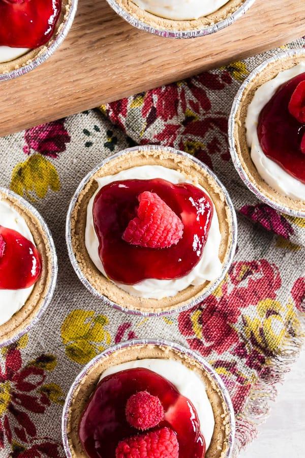 No Bake Raspberry Lemon Mini Cheesecakes Nutmeg Nanny
