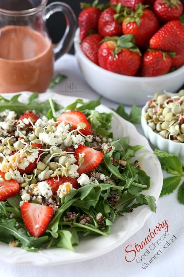 Strawberry Goat Cheese Quinoa Salad - 20 Perfect Summer Salads