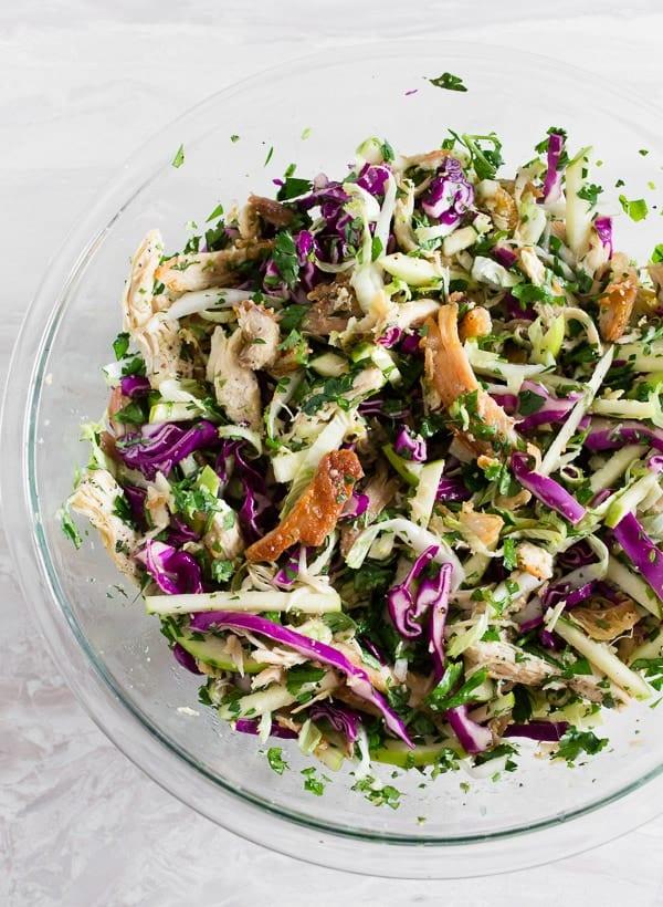 Crispy Chicken Apple Cabbage Salad - 20 Perfect Summer Salads