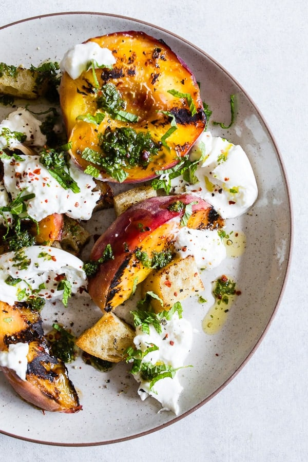Grilled Peach Burrata Salad - 20 Perfect Summer Salads