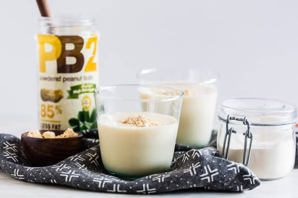 This peanut butter protein shake is the perfect meal replacement or light midday pick-me-up. Made with protein-packed fat free milk, powdered peanut butter, protein powder and an extra special ingredient tokeep it extra smooth. You'll love this shake!