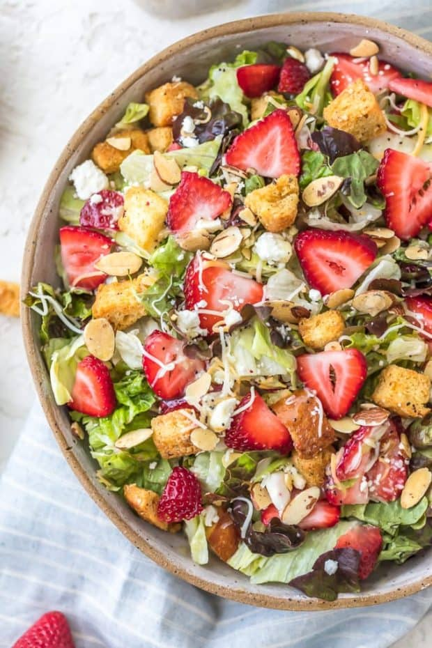 Strawberry Salad with Poppy Seed Dressing - 20 Perfect Summer Salads