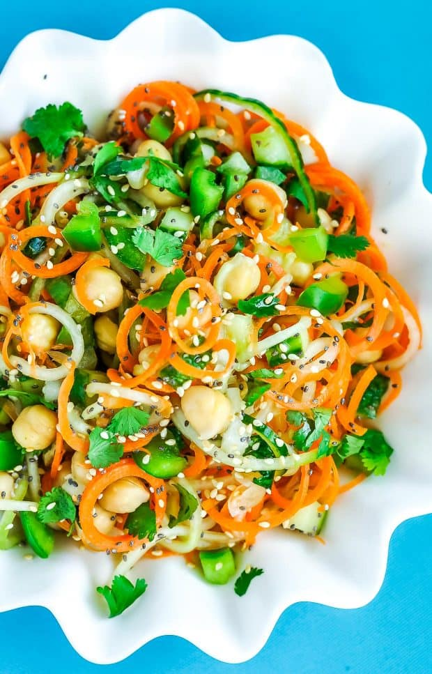 Thai Spiralized Carrot Cucumber Salad - 20 Perfect Summer Salads