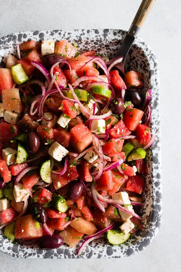 Watermelon Greek Salad - 20 Perfect Summer Salads