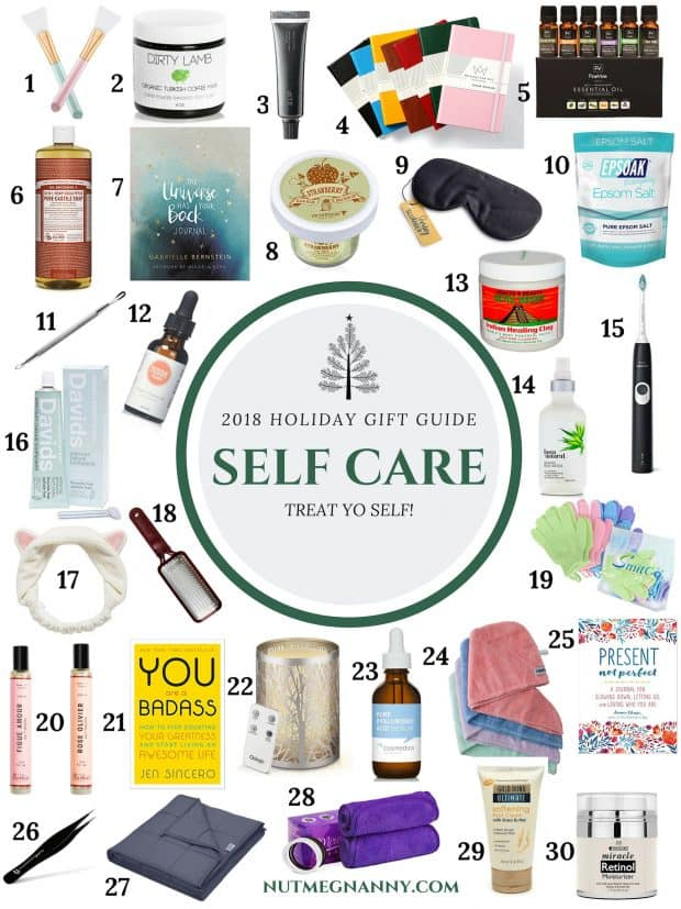 2018 Self Care Gift Guide from Nutmeg Nanny: all the gifts you need to TREAT YO SELF! Everything from beauty to journaling - we have you covered!