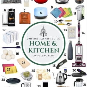 2018 Home and Kitchen Holiday Gift Guide by Nutmeg Nanny - a fun collection of home and kitchen goodies that will be perfect for anyone on your Christmas list.