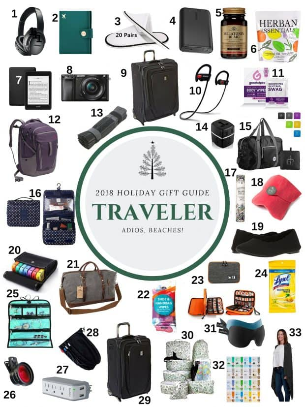 This 2018 Traveler Holiday Gift Guide is the perfect selection of gifts for all the travelers in your life. Everything from suitcases to carry-ons, to a cashmere wrap to Poo-Pourri. I have everything for every budget and every type of traveler!