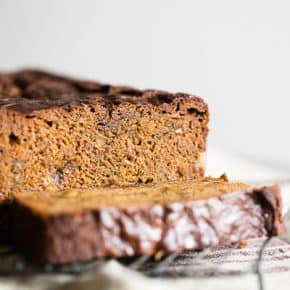 This gingerbread banana bread is the perfect combination of warm winter spices and sweet banana flavor. It's packed with candied ginger, freshly grated ginger and just a touch of molasses. You'll love how easy it is to make this flavorful quick bread!