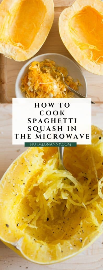 Have you ever wondered how to cook spaghetti squash in the microwave? This is a simple step by step tutorial to show you how simple it is!