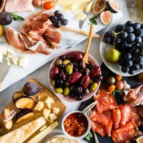 Ultimate Italian Antipasto Platter on a white background