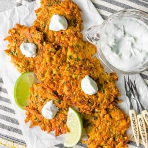 easy carrot fritters overhead shop