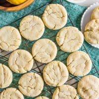 Vanilla Bean Lemon Sugar Cookies