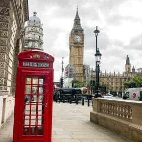 big ben and traditional red telephone booth london travel guide