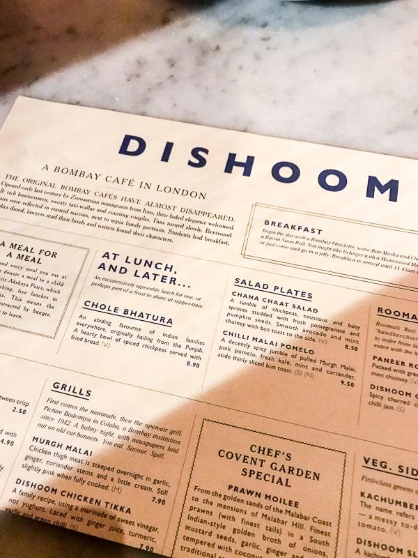 dishoom london travel guide