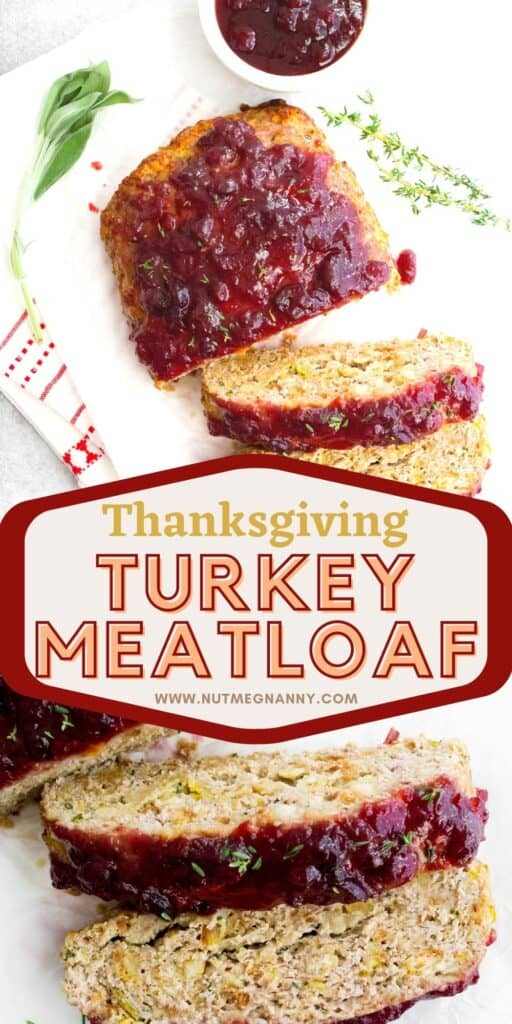 Thanksgiving Turkey Meatloaf pin