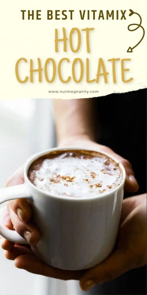 Vitamix hot chocolate pin image