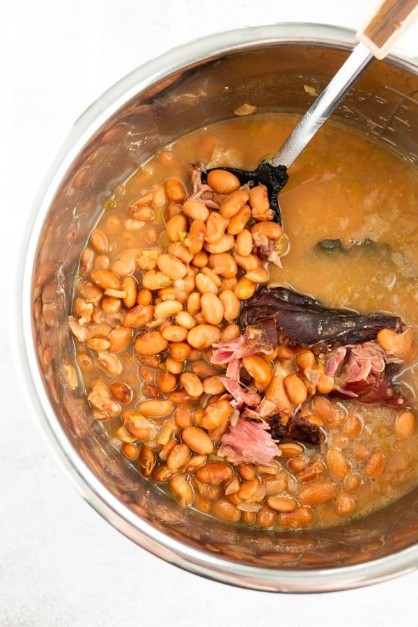 Instant Pot pinto beans inside the Instant Pot