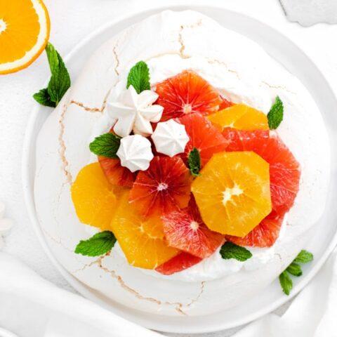 Winter Citrus Pavlova