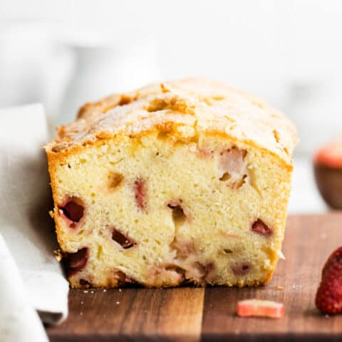 Strawberry Rhubarb Pound Cake