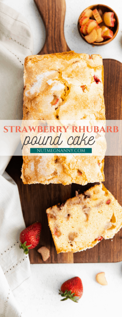 strawberry rhubarb pound cake long pin