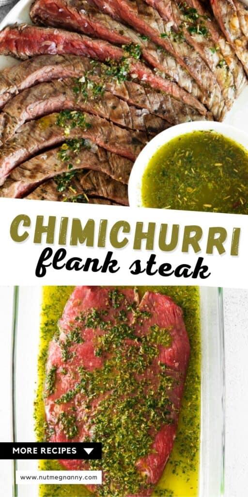 chimichurri flank steak long pin.