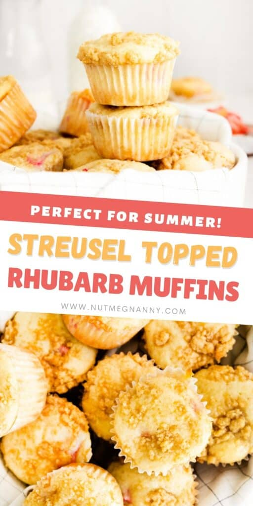 streusel topped rhubarb muffins long pin.