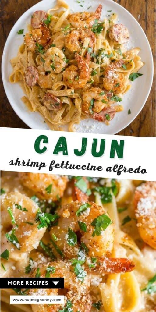 cajun shrimp fettuccine alfredo pin for pinterest.