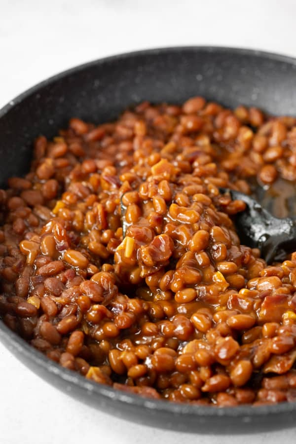 cooked easy bacon baked beans.