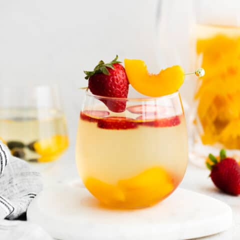 White Wine Peach Sangria