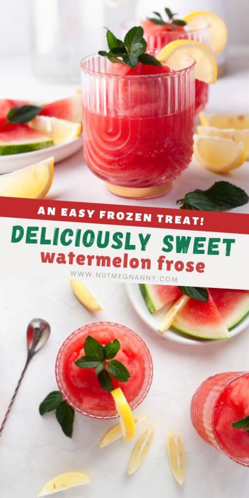 Watermelon frose pin for pinterest.