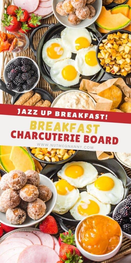 Breakfast Charcuterie Board pin for pinterest.