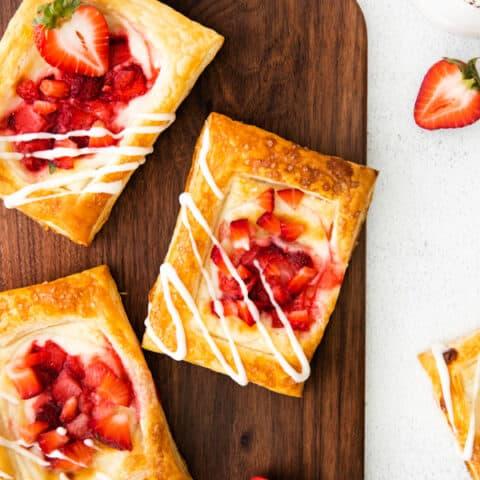 Easy Strawberry Cheesecake Danish