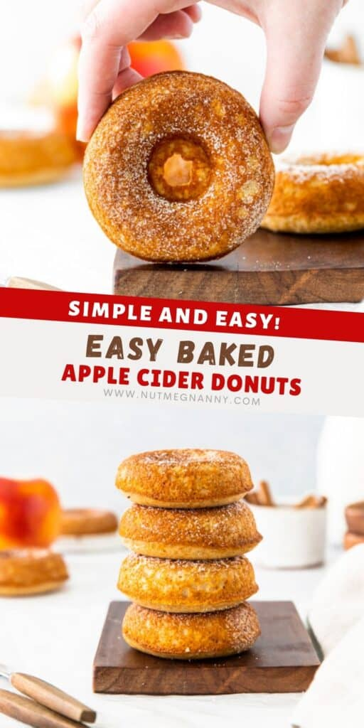 Baked apple cider donuts pin for pinterest.