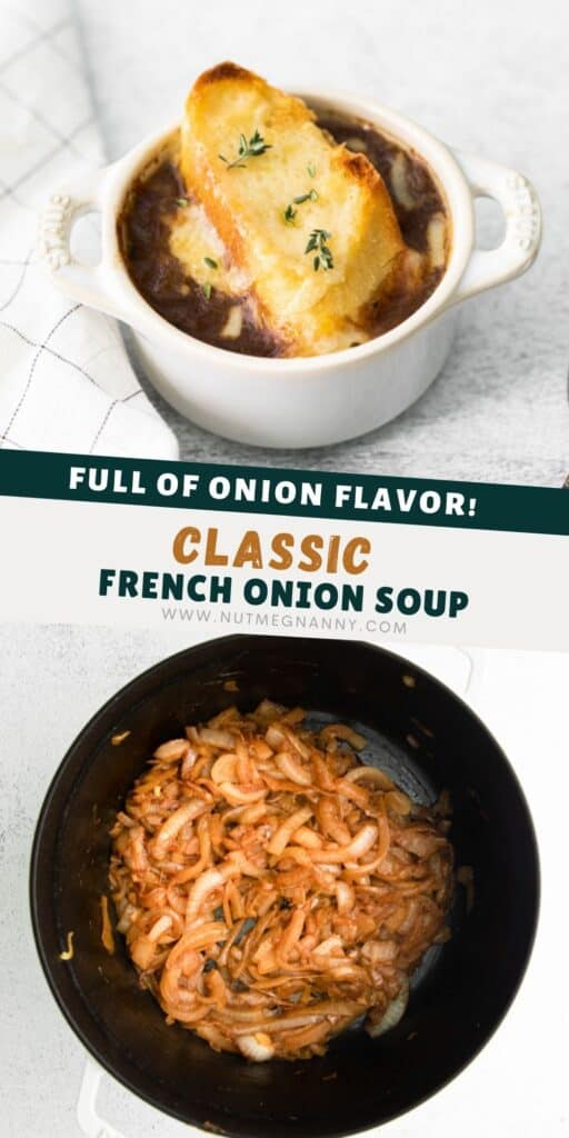 French Onion Soup pin for pinterest.