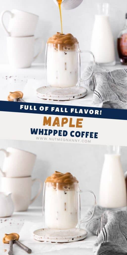 maple whipped coffee pin for pinterest.