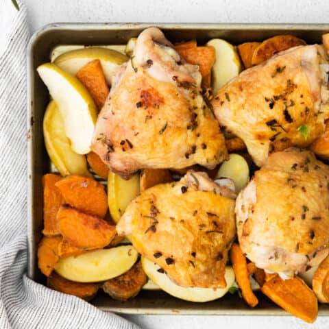 Sheet Pan Chicken and Apples