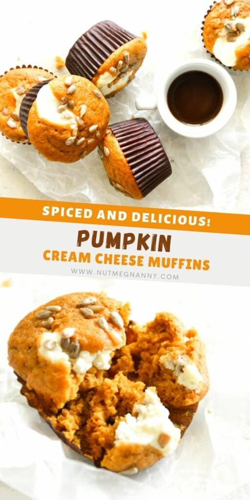 Pumpkin Cream Cheese Muffins pin for pinterest.